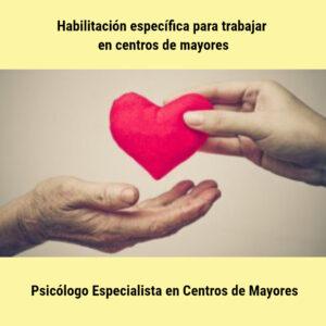 Formación como Psicólogo especialista en Centros de Mayores